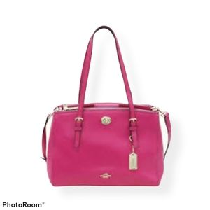 NWT  coach turnlock carry all crossgrain leather